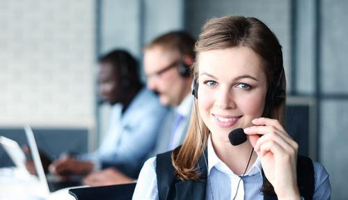 law firm receptionist with headset on