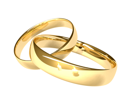 Wedding rings indicating spouses, although dating partners and exes can also be accused of DV.