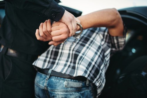 man being arrested in texas