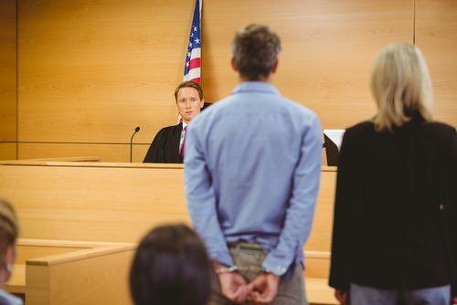 defendant in front of judge