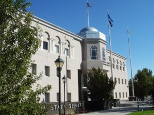 Nevada state legislature building. Lawmakers who make false statements in their reports violate NRS 197.130.