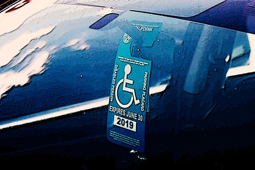 handicap placard - there are limit's on a person's right to use one in another car