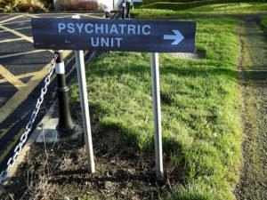 Sign that says Psychiatric unit