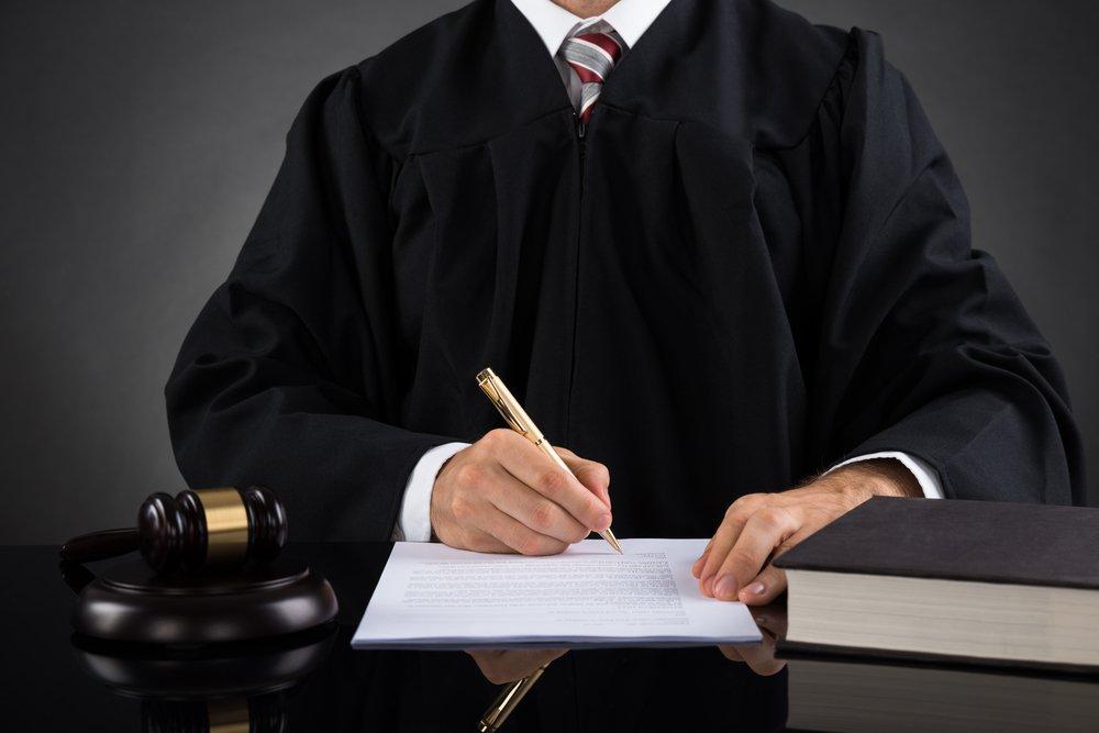judge signing warrant
